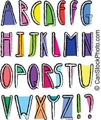 אלפבית, אומנותי