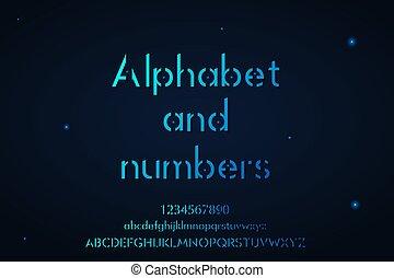 אלפבית, יותר נמוך, שלם, עליון, מספרים, מקרה