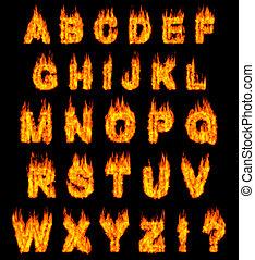 אלפבית, להשרף