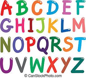 אלפבית, מכתבים, צבעוני, בירה