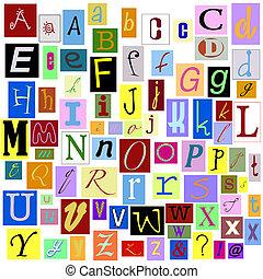 אלפבית, מכתבים