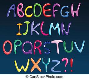 אלפבית, ספאגטי, צבעוני
