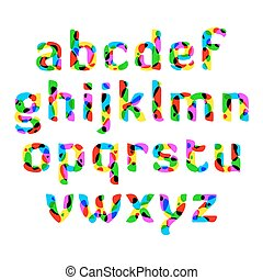 אלפבית, צבעוני
