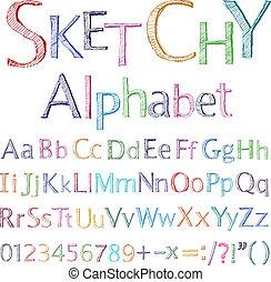 אלפבית, sketchy