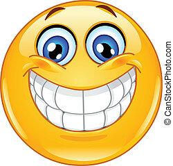 אמוטיכון, חיוך גדול