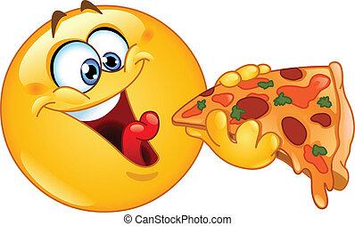 אמוטיכון, לאכול פיצה