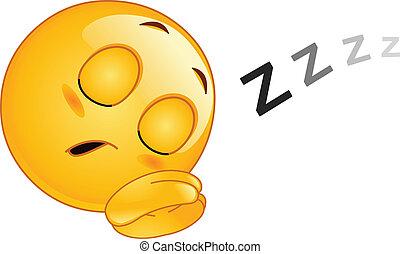 אמוטיכון, לישון