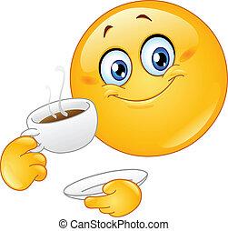 אמוטיכון, קפה