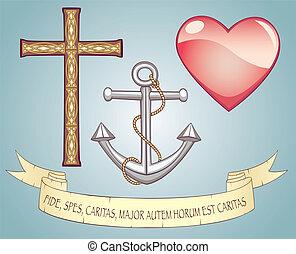 אמונה, אהוב, קוה