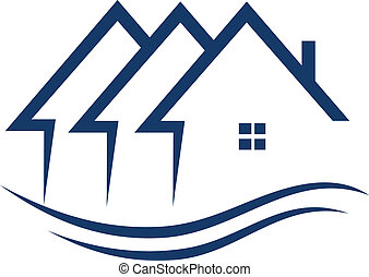 אמיתי, בתים, וקטור, רכוש, לוגו