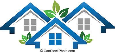 אמיתי, בתים, חברה, רכוש, לוגו