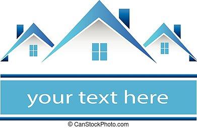 אמיתי, בתים, לוגו, רכוש