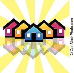 אמיתי, בתים, קונדומיניומים, רכוש, לוגו