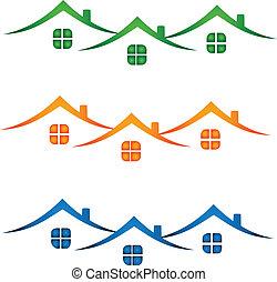 אמיתי, בתים, רכוש, צבעוני, logo-