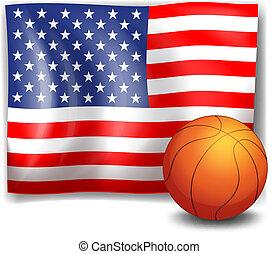 אמריקאי, כדור, דגלל