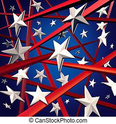 אמריקאי, פסים, כוכבים