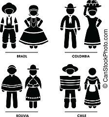 אמריקה, בגדים, תלבושת, דרום