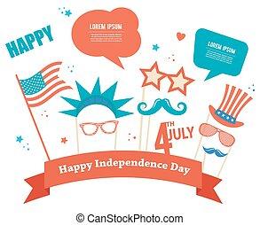 אמריקה, יום עצמאות, תומכים, תלבושת