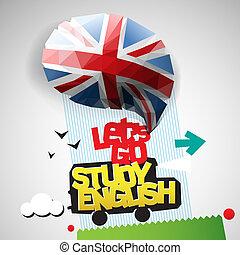 אנחנו, לך, למד, רקע, אנגלית