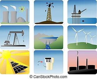 אנרגיה, קבע, איקונים