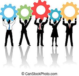 אנשים, , הילוכים, התחבר, פתרון, טכנולוגיה