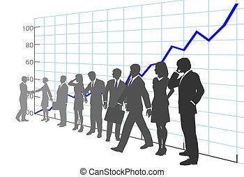 אנשים, טבלה של גידול, עסק, הרוויח, התחבר