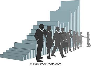 אנשים, טבלה של גידול, צוות של עסק