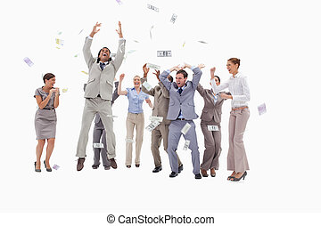 אנשים, כסף, מאוד, לפול, שמיים, שמח