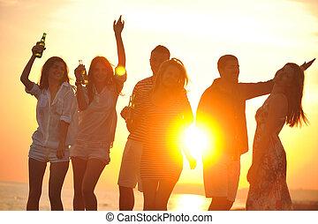 אנשים, מפלגה, החף, קיץ, קבץ, ההנה, צעיר
