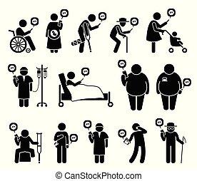 אנשים, נייד, רפואי, טלפן, שירותי בריות, אפליקציה, need.