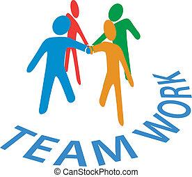 אנשים, שיתוף פעולה, הצטרף, שיתוף פעולה, ידיים