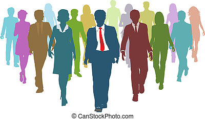 אנשים של עסק, בלתי-דומה, בן אנוש, התחבר מנהיג, אמצעים