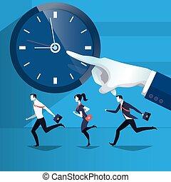 אנשים של עסק, , דוגמה, וקטור, לתפוס, זמן