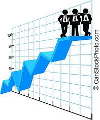 אנשים של עסק, הציין, טבלה של מכירות, התחבר