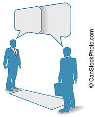 אנשים של עסק, תקשורת מקשרת, הפגש, דבר