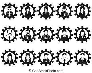 אנשים של עסק, avatar, התכונן, איקונים
