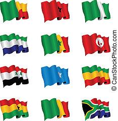 אפריקה, דגלים