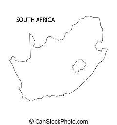 אפריקה, מפה, דרום, תאר