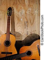 אקוסטי, ישן, גיטרות