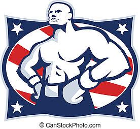אקימבו, אמריקאי, מתאגרף, דגול, ראטרו