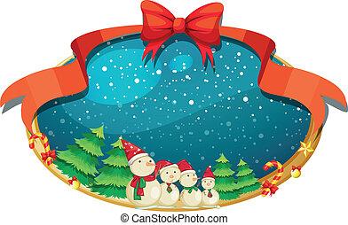 ארבעה, תפאורה, אנשי שלג, חג המולד