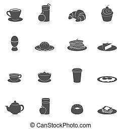ארוחת בוקר, שחור, איקונים