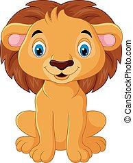 אריה, אופי, ציור היתולי