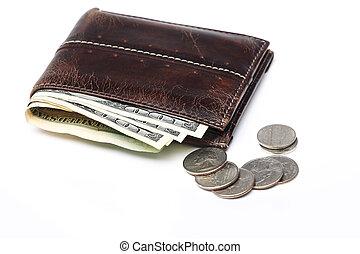 ארנק של עור, מטבעות