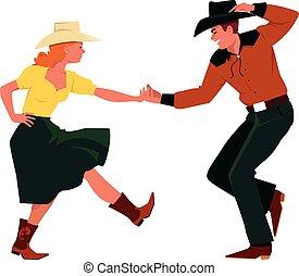 ארץ, מערבי, לרקוד