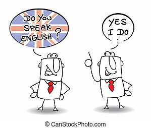 אתה, דבר, אנגלית