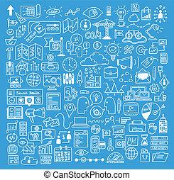 אתר אינטרנט, התפתחות, יסודות, עסק, doodles