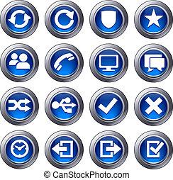 אתר אינטרנט, כחול, קבע, איקונים, -, 2
