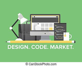 אתר אינטרנט, ניהול, תכנות, דוגמה, דירה