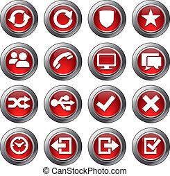 אתר אינטרנט, קבע, איקונים, -, 2, אדום